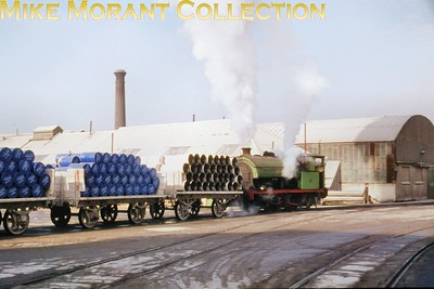 APCM Swanscombe Cement Works 0-4-0ST no. 4 was a product of Hawthorn Leslie HL 3718/1928 and is shown here at work in 1967.br> [Mike Morant collection]