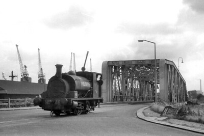 PLA- Port of London Authority - 0-4-0ST no. 48, Hudswell Clarke 1105/1915, at Millwall Docks on 16/8/1958. No. 48 was withdrawn in September 1962. [J. E. Bell / Mike Morant collection]