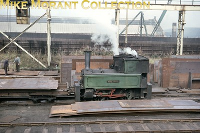 Doxford Shipyard (Sunderland) 0-4-0 crane tank Pallion was built by Hawthorn Leslie (2517/1902) and is depicted here minus its jib in October 1964. [Mike Morant collection]
