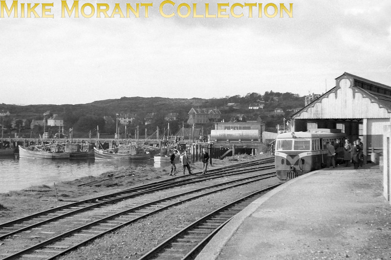 A September 1957 shot of CDRJC railcar no. 20 at Killybegs Harbour station. No. 20 is of 1951 vintage and was sold, along with sister railcar no. 19, to the Isle of Man railway when the CDR closed in 1959.<br> [<i>Mike Morant collection</i>]
