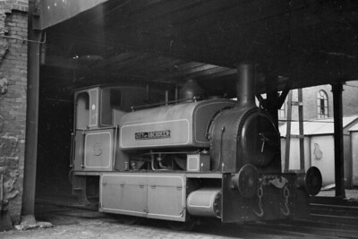 An undated view, probably in the 1950's, of Aberdeen Gas Works' 0-4-0ST City of Aberdeen. Built by Black Hawthorn in 1887 with works no. 912 at its Gateshead works, City of Aberdeen is preserved anjd owned by the SRPS (Scottish Railway Preservation Society) and is on loan to the Tanfield Railway when this was written in March 2020. [Mike Morant collection]