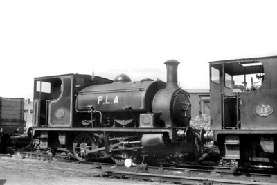 PLA- Port of London Authority - 0-4-0ST no. 47, Hudswell Clarke 1104/1915, at Millwall Docks on 16/8/1958. No. 47 was withdrawn in September 1962. [J. E. Bell / Mike Morant collection]