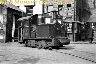 South Metropolitan Gas Works 3' gauge 0-4-0T ORION photographed in steam in March 1936. This delightful little engine was built by Bagnall in 1898 with works no. 1536 but was rebuilt with side tanks by Peckett in 1930. Withdrawal came in 1952. [Mike Morant collection]