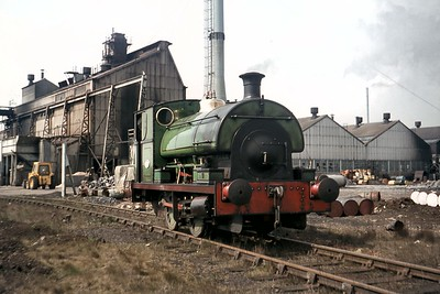 The enormous Crane & Co. engineering company's site in Nacton Road in Ipswich (Suffolk) was home to the largest private sidings complex in East Anglia and was operated by this Peckett 0-4-0ST which was built in 1952 with works no.2912. There's no date supplied with this colour slide but I think it could have been taken as late as 1972. The Crane site is now what amounts to a a huge domestic shopping centre. [Mike Morant collection]