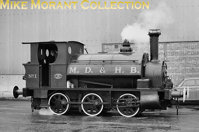 LUPTS: The Mersey Docks Rail Tour 8/5/65. Mersey Docks & Harbour Board  - MD&HB -   outside cylinder 0-6-0ST no.1 which was an Avonside product of 1904 with works no. 1465. [Mike Morant collection]