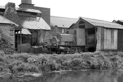 Former Wantage Tramway Company no. 7 at its home base, the Cordes Dos nails manufacturer in Newport (Mon.), and depicted here on 13/7/57. No. 7 was a Manning Wardle 0-4-0ST of 1888 vintage originally owned by the Manchester Ship Canal but was sold to the WTC in 1898. When the wantage Tramway closed in 1946 it was sold to A. R. Adams of Newport who sold it on to the Cordes Dos factory which closed its doors in 1964 and this delightful and historic engine was, sadly, scrapped. [Mike Morant collection]