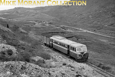 A September 1957 shot of CDRJC railcar no. 20 during a photo opportunity in the Barnsmore Gap with Killybegs Harbour visible in the distant background. No. 20 is of 1951 vintage and was sold, along with sister railcar no. 19, to the Isle of Man railway when the CDR closed in 1959. [Mike Morant collection]