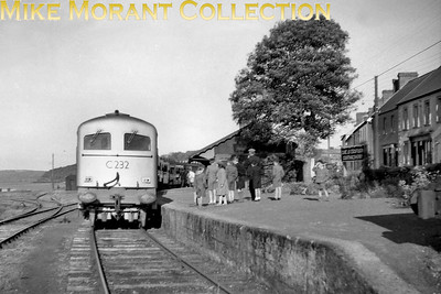 CIE Co-Co diesel ectric 201 class no. C232 on railtour duty at Courtmacsherry in September 1957. [Mike Morant collection]