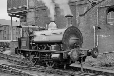 Worthington Brewery at Burton-on-Trent on 28/9/57, 0-4-0ST no. 2 built by Hudswell Clarke with works no. 690 in 1904 [J. E. Bell / Mike Morant collection]