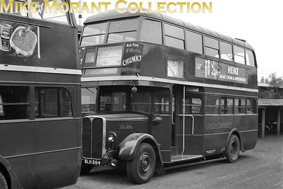 Green liveried, London Transport 'Country' STL1016, registration no. BLH 884, at an unspecified location and with no garage plate in evidence. [Mike Morant collection]
