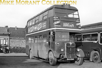 London Transport, country area Roof-box STL type bus no. STL1915, registration DLU 294 and bearing an 'H' Hitchin garage plate, on route 303B but the location isn't stated on the sleeve. [Mike Morant collection]