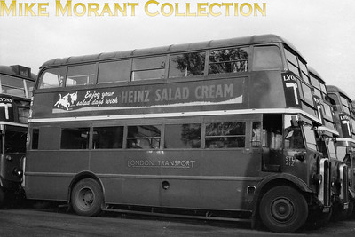 London Transport 'Leaning-back' STL 412, registration no. AXM 675, but with no supporting documentaion. STL 412 would be withdrawn in June 1953. [Mike Morant collection]