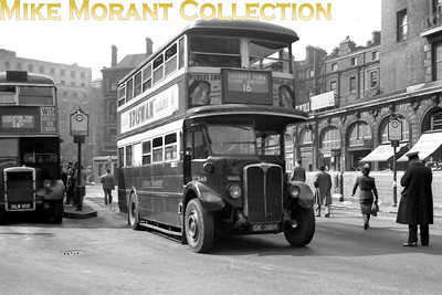London Transport Standard ST348 with Short Bros. body, registration no. GK 3014, at Victoria station's bus stand operating on route 16 to Sudbury Town. ST348 was delivered to LGOC in November 1930 and was withdrawn in September 1949. [Mike Morant collection]