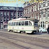 The rear end of HTM Den Haag PCC tramcar no. 1128 on lijn 11 photographed in 1969.<br> [<i>Mike Morant collection</i>]