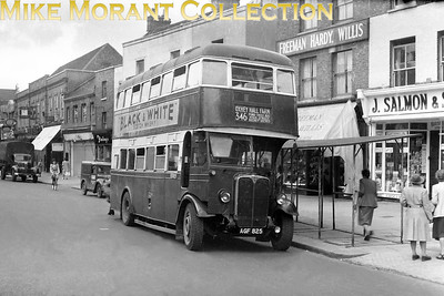 London Transport, country area Tilling STL type bus no. STL115 of 1933 vintage, registration AGF 825, on route 346 to Olney Hall Farm butt he location isn't stated on the sleeve. STL 115 acquired this grren livery in October 1947 whilst at WA watford High St. but was reallocated to the central area in Janujry 1949. [Mike Morant collection]