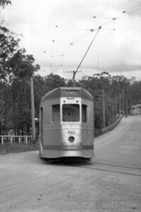 Brisbane City Council 400 class tram car no. 428 at what the sleeve note says is Bardon in 1955.. [Mike Morant collection]