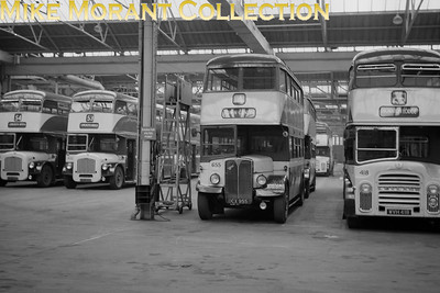 Huddersfield Corporation buses Location: Longroyd Bridge depot Fleet no.: 655 (originally 155) Registration: DCX 955 nnn Chassis: AEC Body: Park Royal Entered service: 12/47 Withdrawn: ??/67 [Mike Morant collection]