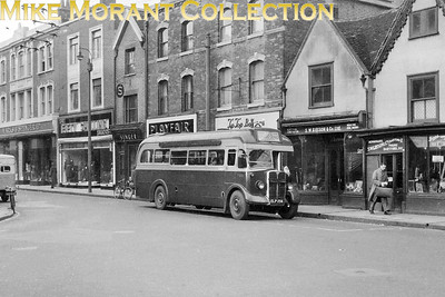 London Transport 10T10 Green Line no. T532, registration no. ELP 256 with garage plate WR (Windsor), on route 702 passing through Dartford en route for Gravesend. [Mike Morant collection]