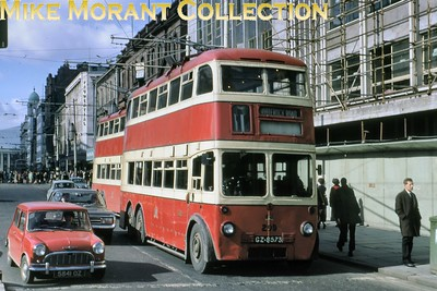 Belfast Corporation trolleybus Fleet no.: 209 Registration: Gf 8573 Chassis: B.U.T. Body: Harkness Entered service: 10/1950 Withdrawn: 5/1968 [Mike Morant collection]