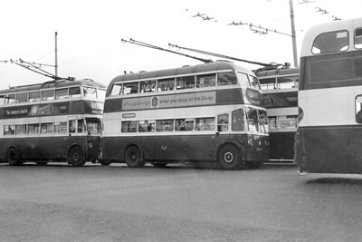 Portsmouth Corportion Transport trolleybus Fleet no.: 315 Registration: ERV 940 Chassis: BUT Body: Burlingham Entered service: 3/51 Withdrawn: 7/63 Location: Dockyard, Main Gate terminus [Mike Morant collection]