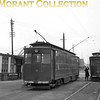 Former GCR car no. 12 and  Gateshead car no. 30 at Immingham Docks tram station on the Grimsby & Immingham Light Railway.<br> [<i>Mike Morant collection</i>]