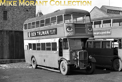 London Transport 'Tilling' STL74, registration no. YY 5374, on driver training duty at Putney Bridge garage in 1948. Note that its assigned garage is AL Merton of which there is no mention on the Ian's Bus Stop web site. [Mike Morant collection]