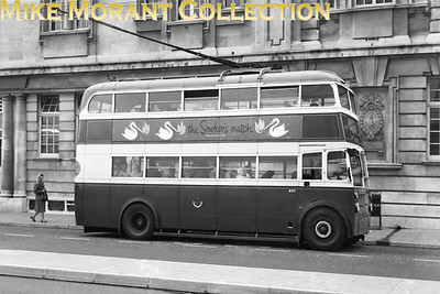 Portsmouth Corportion Transport trolleybus Fleet no.: 237 Registration: RV 8319 Chassis: AEC 661T Body: Cravens Entered service: 1936 Withdrawn: 1961 Location: Outside the Gas Co offices on the opposite side of Park Road to the Guildhall. [Mike Morant collection]