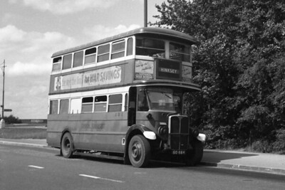 London Transport standard ST 757, registration GO 658, in service with BMMO better known to us as Midland Red. ST 757 was hired to BMMO from december 1942 until October 1944 when it returned to LT service. ST 757 was of 1931 vintage and would be withdrawn in August 1949 whilst allocated to AR (Tottenham) garage and went straight to the famed Daniels scrapyard at Rainham. The location isn't stated and frustratingly there are road direction signs in the background that aren't sharp enough to decipher. The only clue is the indicator blind to Hinksey which is in Oxfordshire. [Mike Morant collection]