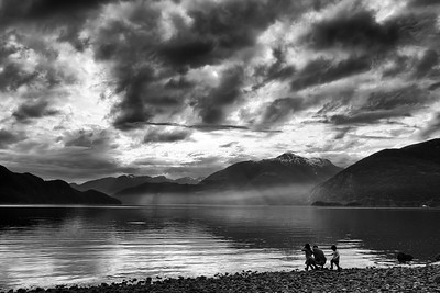 Porteau Cove Father and Kids