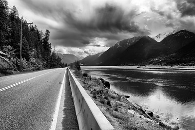 Highway 99 at Lillooet Lake