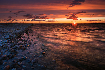 SUNSET AT STONEY BEACH