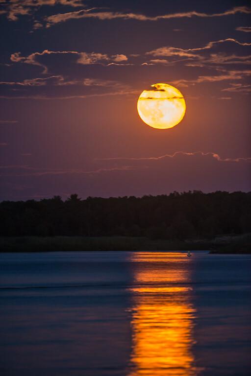 Blue Moon over the Merrimsck