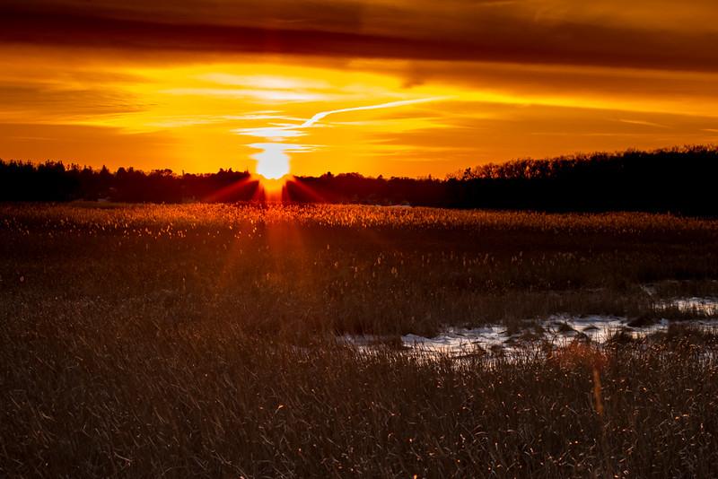 Sunset, Salisbury marsh