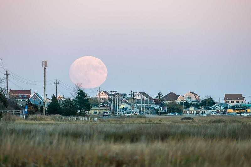 Moonrise over Plum Island