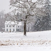 Farmhouse in snowstorm