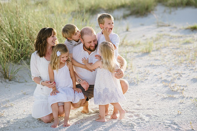 Anna Maria Island Family Beach Portraits at Bean Point