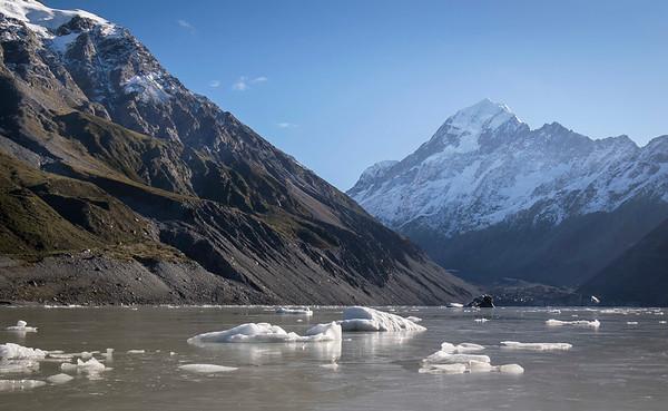 Hooker Glacier at Aoraki /Mt Cook