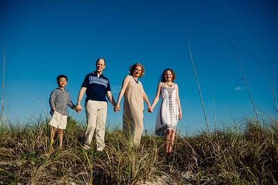 Blue Skies in Treasure Island, Family Beach Portrait Photos