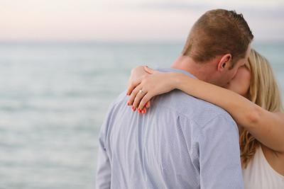 Coquina Beach Anna Maria Island Florida Couples Engagement Portraits at Sunset