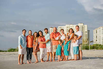 Clearwater Beach Family Portraits at Sand Key