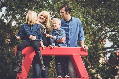 Downtown St Pete FL Family Portrait Photos by St Petersburg Photographer Kristen Sloan