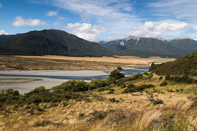 Waimakariri river at the Mt White bridge - Arthurs Pass
