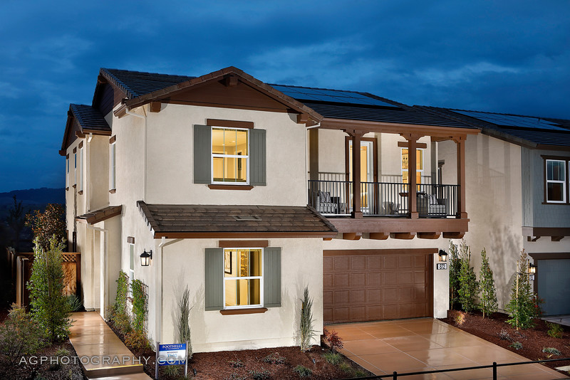 Foothills Models at The Preserve by Lennar Homes, San Ramon, CA. 1/11/19.