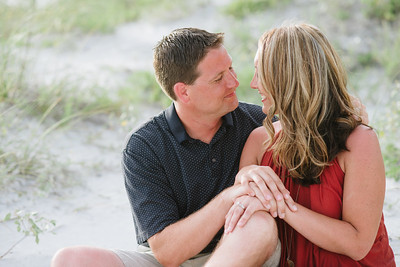 Indian Shores Beach Florida Couples Engagement Portraits at Sunset