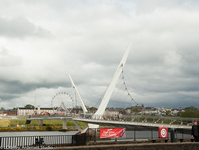 Peace Bridge over River Foyle