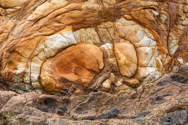 Rock abstract on Onawe Peninsula