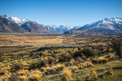 Looking towards the Rangitata and Lawrence Rivers