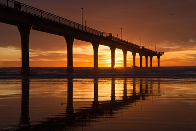 Sunrise,  New Brighton Pier - Christchurch