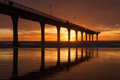 Sunrise,  New Brighton Pier - Christchurch