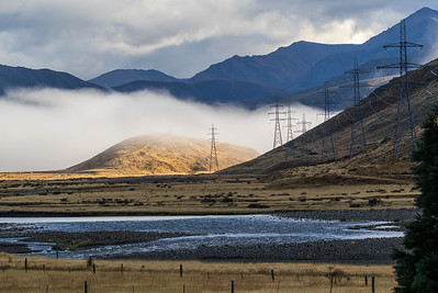 Pylons on Molesworth Station